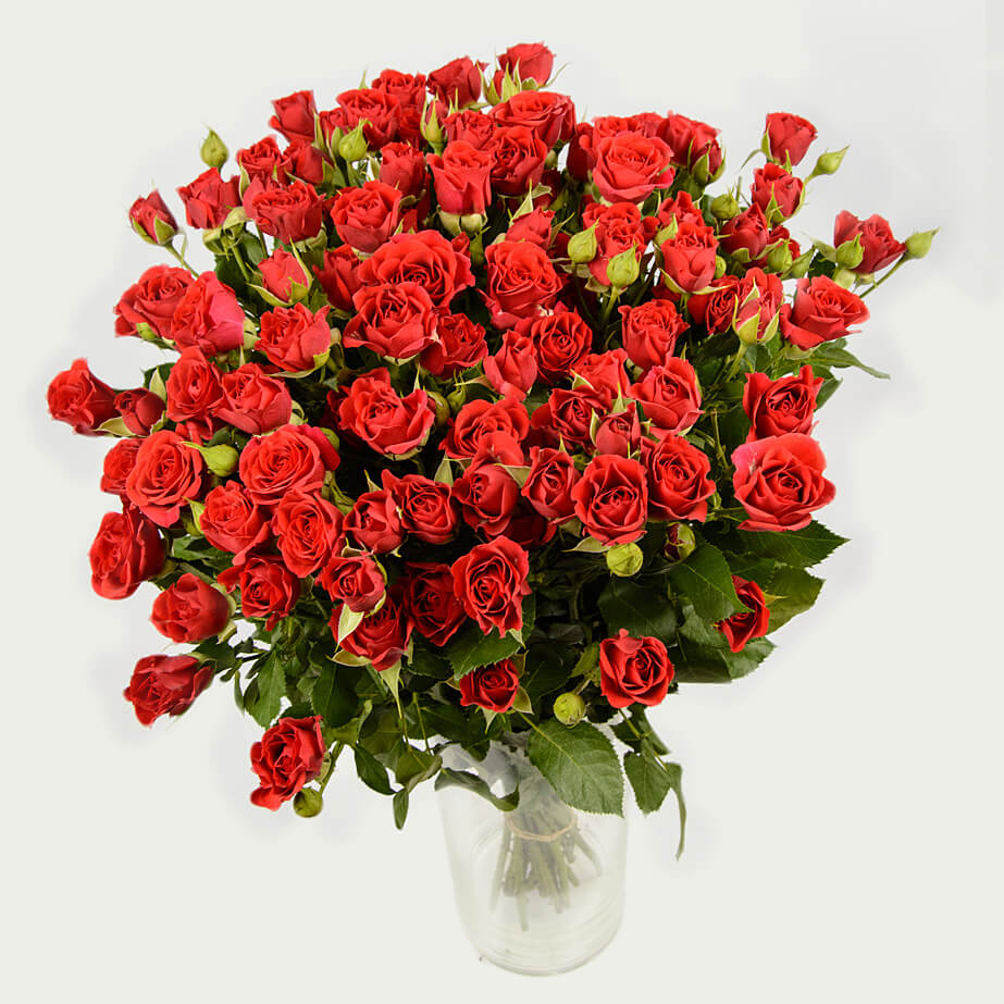 "Bouquet ""Bunch of 19 Branched Roses ""Classic in Red"""