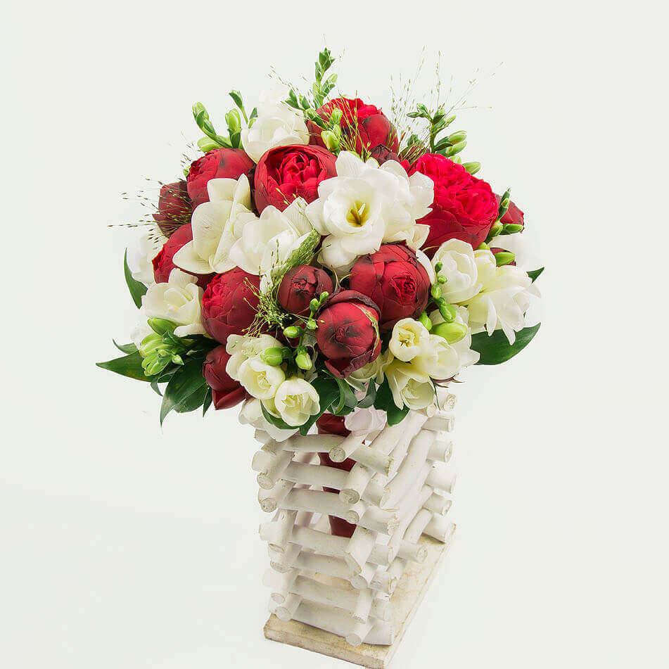 "Wedding Bouquet ""Luxury Burgundy"""