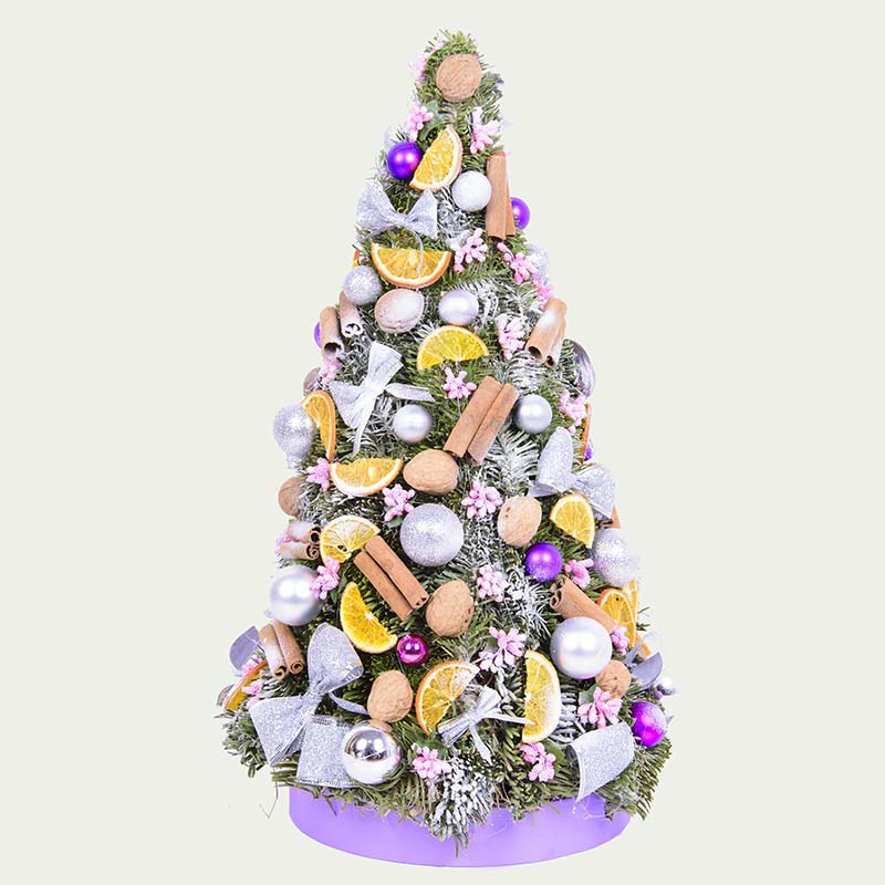 """Decorative Christmas tree """"Silver-plated tenderness"""""""
