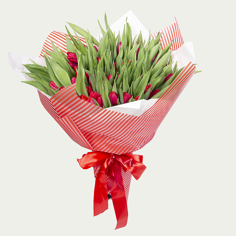 "Bouquet of 101 tulips ""From the heart …"""