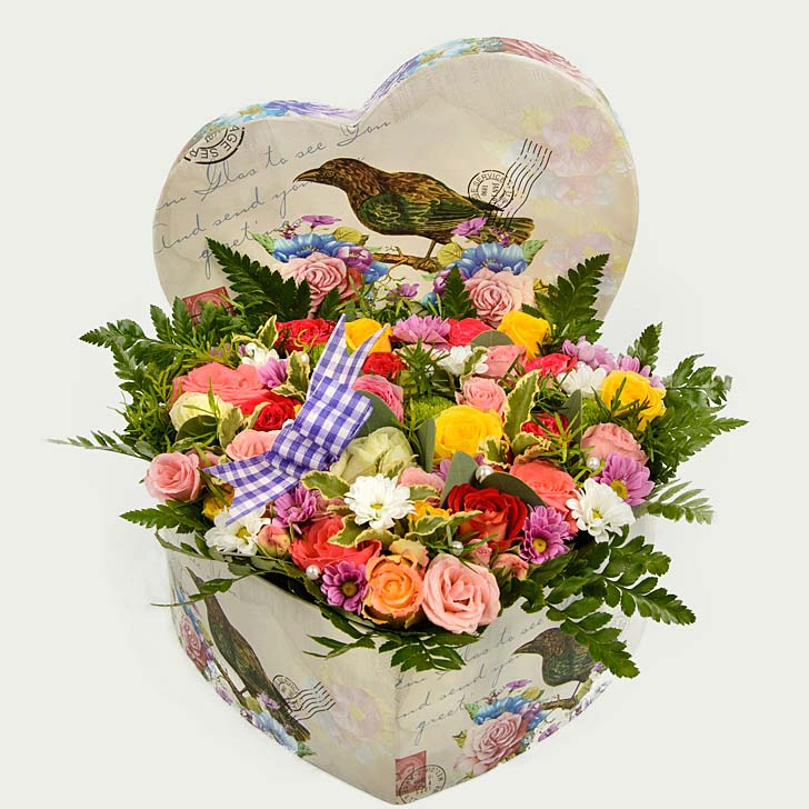 """Decorative Box of Flowers """"Above the Flower Field"""""""