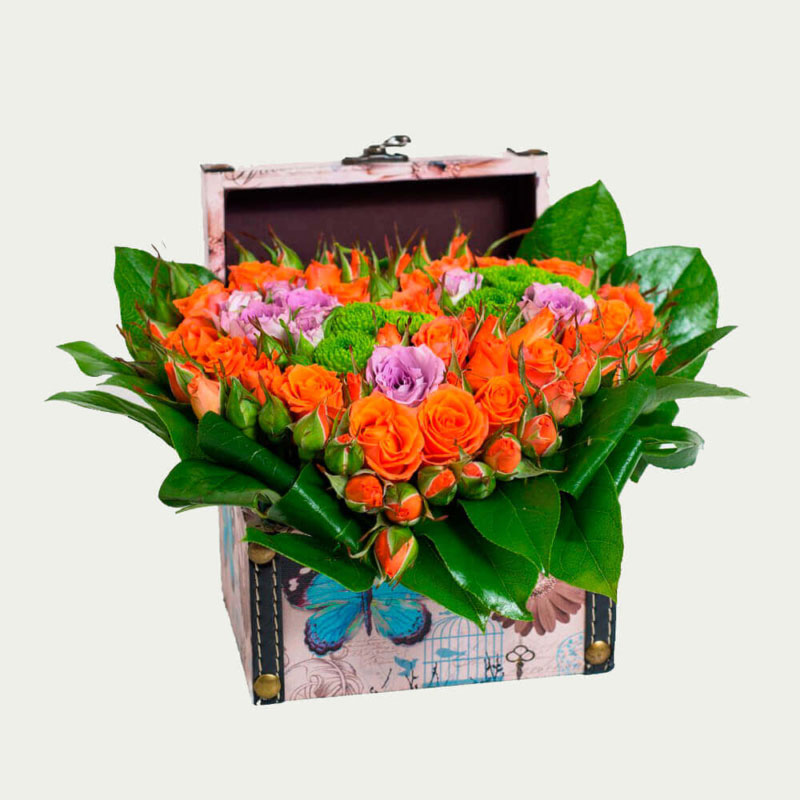 """Flower Box """"With Love"""""""
