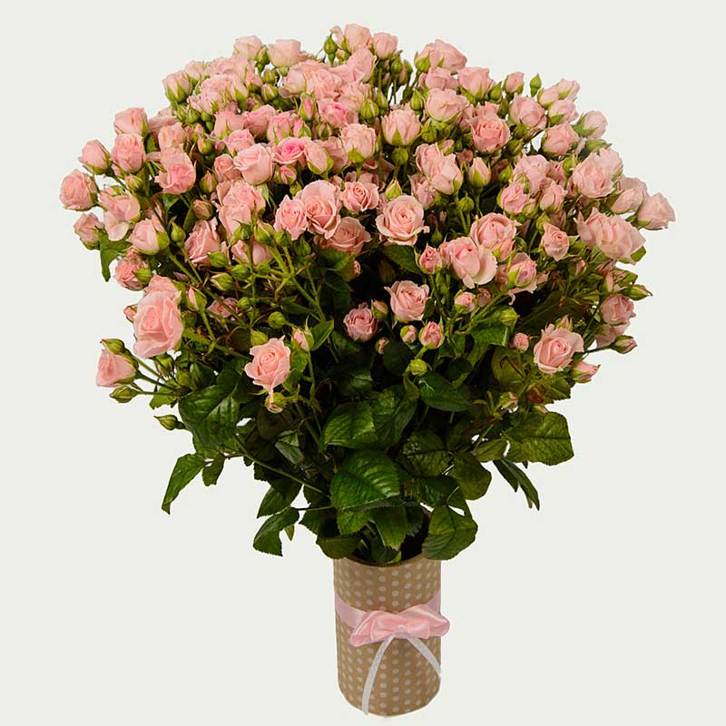 """Bouquet """"Bunch of 19 Branched Roses """"Breath of Dawn"""""""